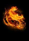火热的橄榄球盔 免版税图库摄影