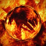火热的火焰的一个抽象图象的例证 库存图片