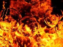 火热的火焰的一个抽象图象的例证 库存照片