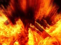 火热的火焰的一个抽象图象的例证 免版税库存照片