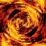火热的火焰的一个抽象图象的例证 免版税库存图片