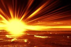 火热的黎明 库存照片