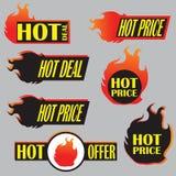 火热的价格标签传染媒介 免版税图库摄影