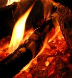 火焰一点 免版税库存照片