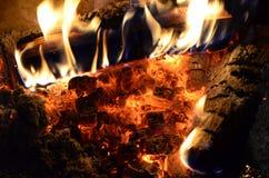 火焰和炭烬背景 库存照片