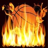 火焰和篮球 免版税图库摄影