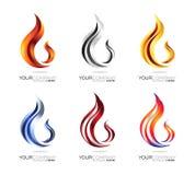 火焰商标设计 免版税库存图片