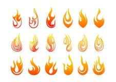 火焰商标设计 库存例证