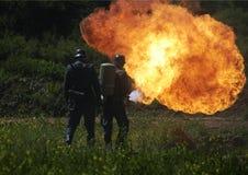 火焰喷射器 免版税图库摄影