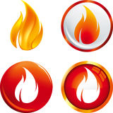 火焰按钮 免版税库存照片