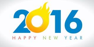 2016火焰新年卡片 库存图片