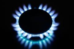 火焰气体厨房 免版税库存照片