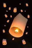 火焰气球 库存图片