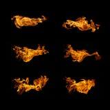 火焰汇集 库存照片