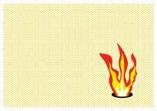 火焰流行音乐 免版税图库摄影