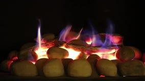 火焰温暖的煤气取暖器 影视素材