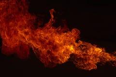 火焰火发火焰背景 免版税库存照片