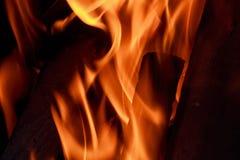 火焰火特写镜头 图库摄影