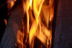 火焰火特写镜头 免版税库存照片
