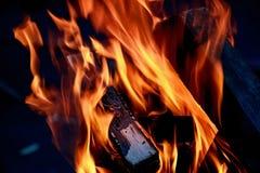 火焰火特写镜头 库存照片