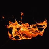 火焰热 免版税库存照片