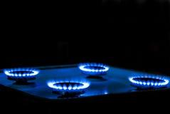 火焰煤气炉 免版税库存照片