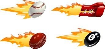 火焰状光滑的图标体育运动 向量例证