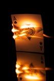 火焰状卡片 图库摄影