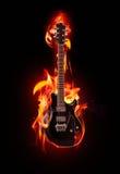 火焰状吉他 免版税库存照片