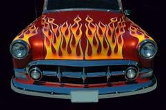 火焰状旧车改装的高速马力汽车 免版税库存图片