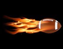 火焰状橄榄球 免版税图库摄影