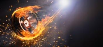 火焰状轮子 免版税库存照片