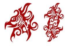 火焰状部族菲尼斯头和菲尼斯的重号 库存照片