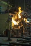 火焰状铸造厂 免版税库存图片