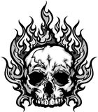 火焰状头骨图象图象 库存图片
