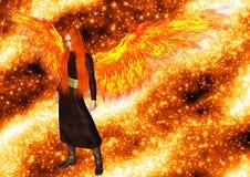 火焰的天使 免版税库存照片