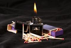 火焰符合 免版税图库摄影