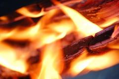 火焰红色 库存图片
