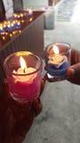 火焰蜡烛 免版税图库摄影