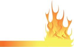 火焰页脚 库存例证