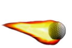 火焰高尔夫球 库存图片