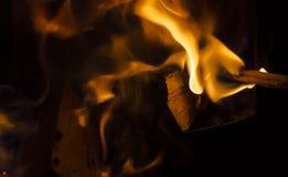 火焰,关闭 免版税库存照片