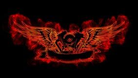 火焰motowings 库存照片