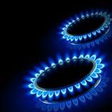 火煤气炉 库存图片