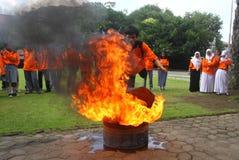 火熄灭 图库摄影