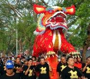 火狮子队伍在南台湾 免版税库存图片