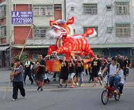 火狮子队伍在南台湾 图库摄影