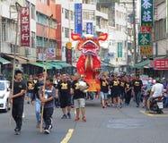 火狮子队伍在南台湾 库存图片