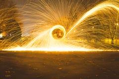 火球钢丝绒 免版税图库摄影