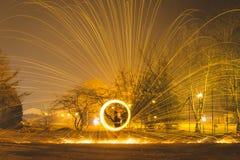 火球钢丝绒 免版税库存图片